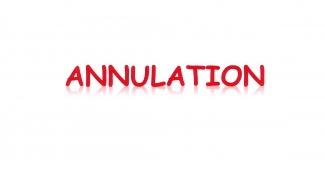Annulation des manifestations