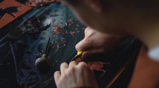 Exposition des linogravures de Malory Evrard